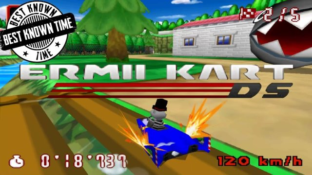 Ermii Kart DS Legacy Edition - Rockside River 54:423 / 10:374 [BKTs]